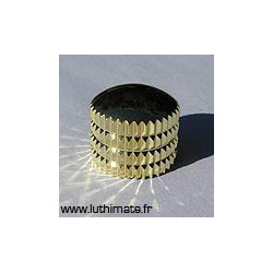 plastic knob gold