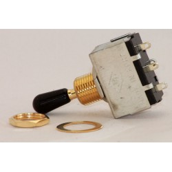 Toggle Switch Box Gold bouton noir