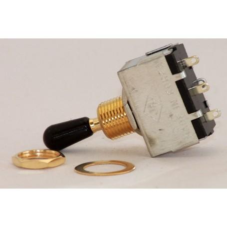 Toggle Switch Box Gold bouton noir