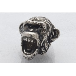 Metal Knob ROADRUNNER SILVER MONKEY