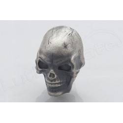 Metal Knob SKULL ANTIQUE CHROME