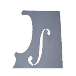 Guarneri Style violin F-hole pattern