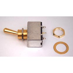 Toggle' Switch Box Gold