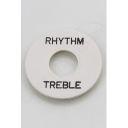 "plaque ""rhythm treble"" Les Paul White"