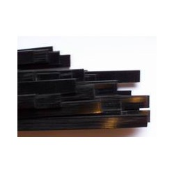 Black plastic binding 1.5 x 6 x 1700 mm