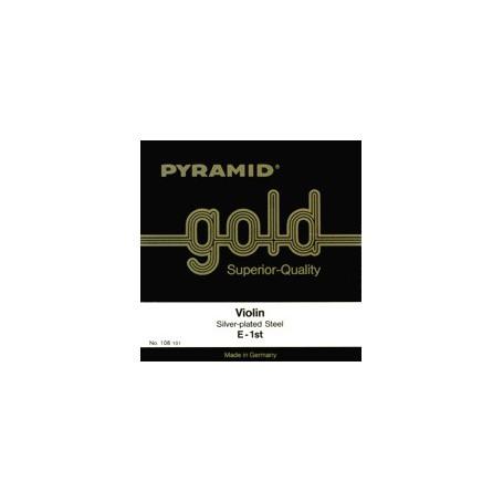 Cordes PYRAMID Violon Pure Nickel filet plat/Acier