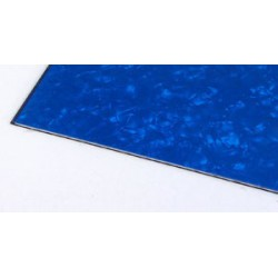Pickguard Sheet Blank Blue Pearloid 290x490 mm