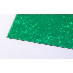 Pickguard Sheet Blank Green Pearloid 290x490 mm