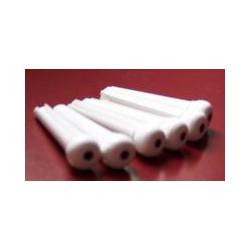 Chevilles cordier plastique blanc avec point noir x6