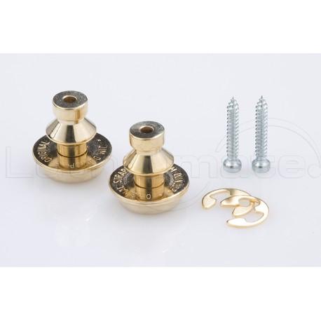 DUNLOP SCHALLER Strap lock Gold (x2)