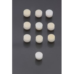 6 mm plastic Pearl Dot Inlay (10 pieces)