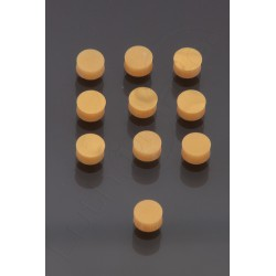 GOLD 6 mm plastic Pearl Dot Inlay (10 pieces)