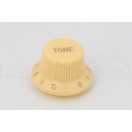 Bouton Style Strat 'TONE' Ivoire
