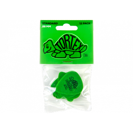 DUNLOP 12 Tortex Picks 0.88mm Player Pack