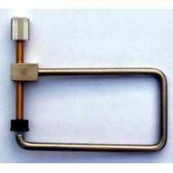 "F-Hole clamp throat depth 7.5cm - 3"""