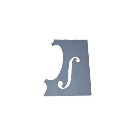 Gabarit ouïe f pour violon style Stradivari