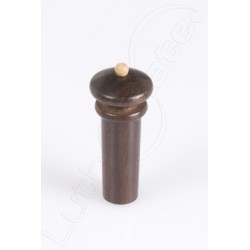 Rosewood tailpiece knob with ivory inlay