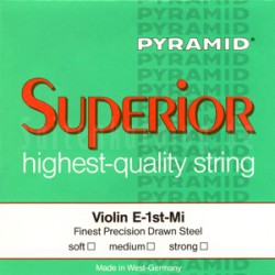 Jeu cordes Violon 3/4 PYRAMID Superior Pure Nickel